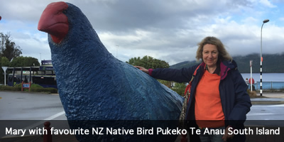 Mary and Pukeko Te Anau South Island