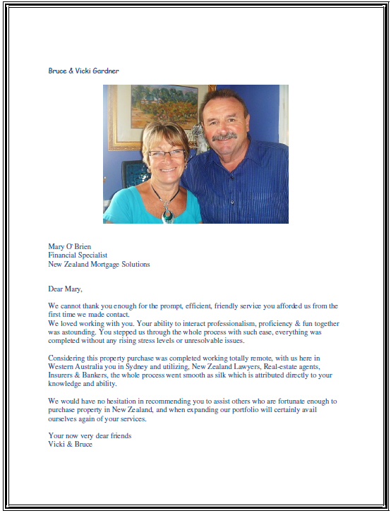 Bruce and Vicky's letter